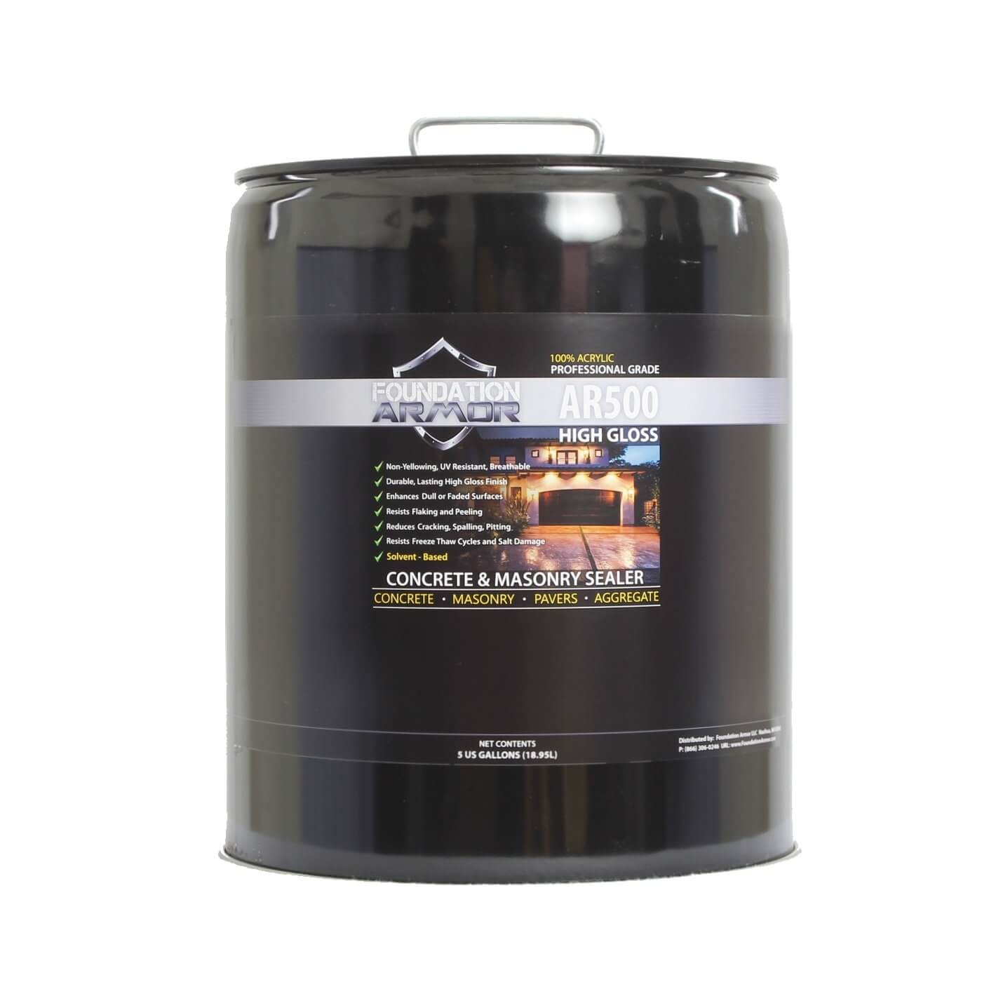 5-GAL Armor AR500 High Gloss Solvent Based Acrylic Concrete Sealer and Paver Sealer review
