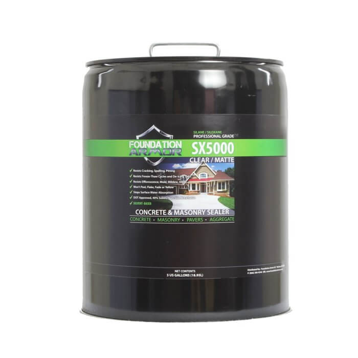 5-Gal. SX5000™ Penetrating Clear Solvent-Based Silone-Siloxane Concrete & Masonry Sealer review