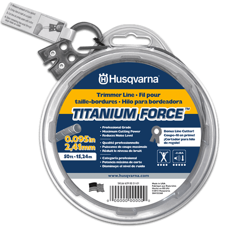 Husqvarna 6390055102 Titanium Force String Trimmer Line .095-Inch by 1/2-Pound Donut review