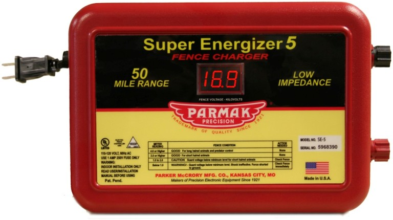 Parmak Super Energizer 5 Low Impedance 110/120 Volt 50 Mile Range Electric Fence Controller SE5 review