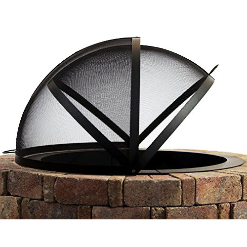 Hampton's Buzaar 36 Inch Fire Pit Easy Access Spark Screen review