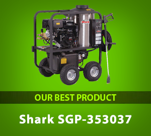 Shark SGP-353037 3,000 PSI 3.5 GPM Honda Gas Powered Hot Water Commercial Series Pressure Washer  - Our Best Product