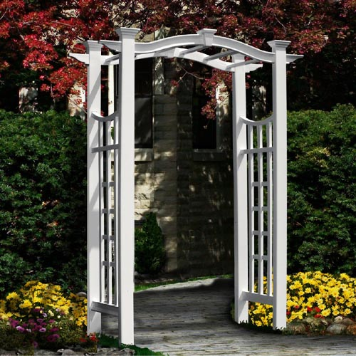 New England Arbors Florence 49 W x 94 H Vinyl Arbor review