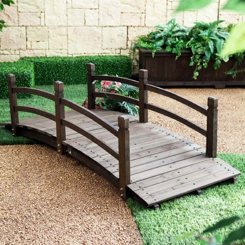 Coral Coast Harrison 6-ft. Wood Garden Bridge review