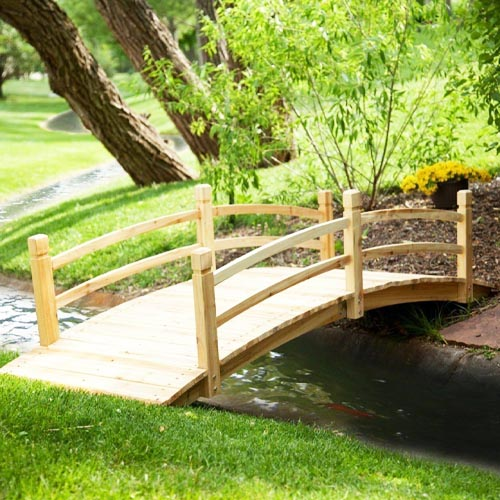 Coral Coast Harrison 8-ft. Wood Garden Bridge review