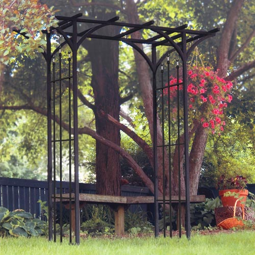 Panacea Products 89088 Steel Flat Top Arbor with Finials review