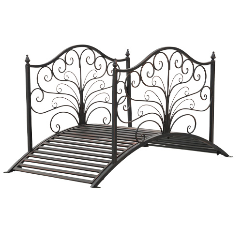Outsunny 4 Metal Arched Backyard Decorative Garden Bridge review