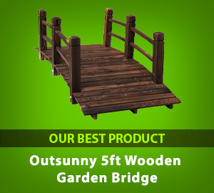 Outsunny 5ft Wooden Garden Bridge with Railings - Our Best Product