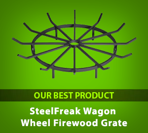 SteelFreak Wagon Wheel Firewood Grate - Our Best Product