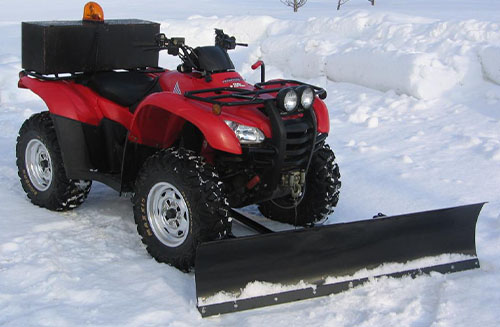 How to Plow Snow with an ATV