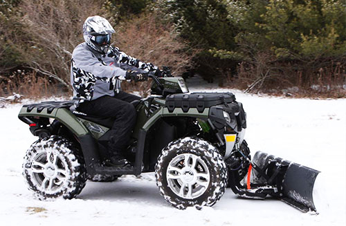 How to Plow Snow with an ATV or UTV